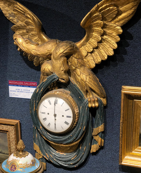Rare and Unusual Double Headed Eagle Clock