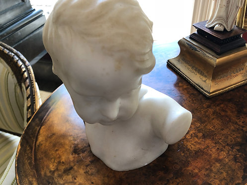 Antique Marble Bust of Child