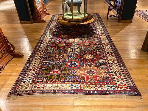 "6'8""X15'4"" Antique Lesghi Star Kazak"