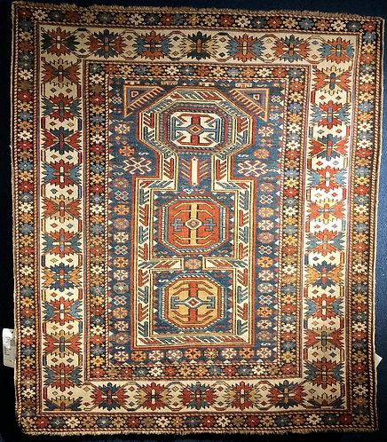 4.1x4.9 Antique Prayer Kuba Caucasian