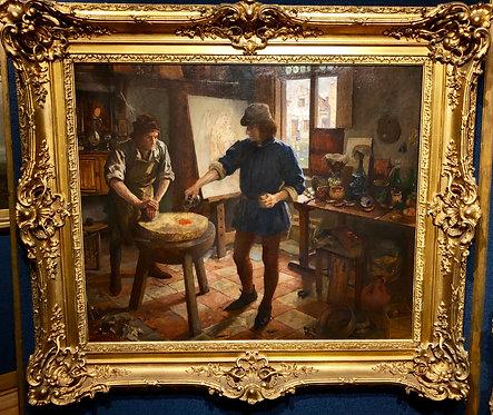 Artist in his Studio By: Amedee Forestier