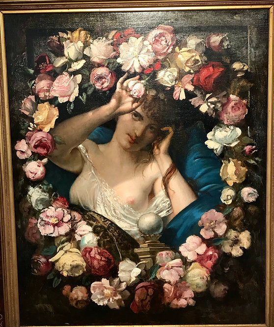 Woman with Garlands by Benedict Masson