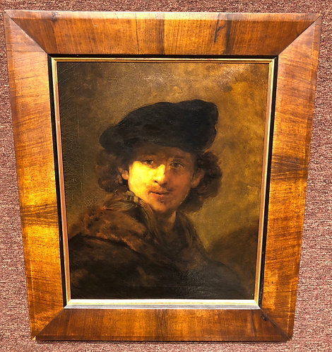 Rembrandt Self Portrait , Unsigned, After Rembrandt