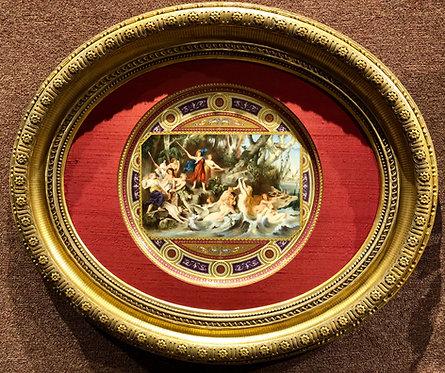 Fine Royal Vienna Charger, Signed H. Stadler, Period Frame