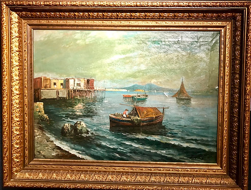 Fisherman in the Bay of Naples by Giovanni Scognamiglo