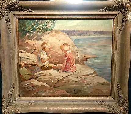 Children Along the Shore by Sjogren Erichson