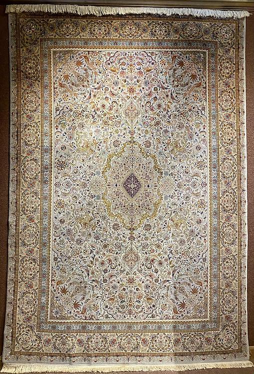 "8'X11'7"" Persian Green Silk Warp Tabriz"