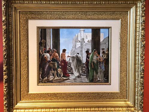 Antique Kpm Condemning Of Jesus Signed Kpm Mussallem