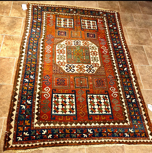 "5'4""X7'4"" Antique Karachov Kazak"