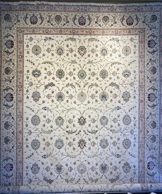 """11'1""""X16'2"""" Persian Silk & Wool Tabriz"""