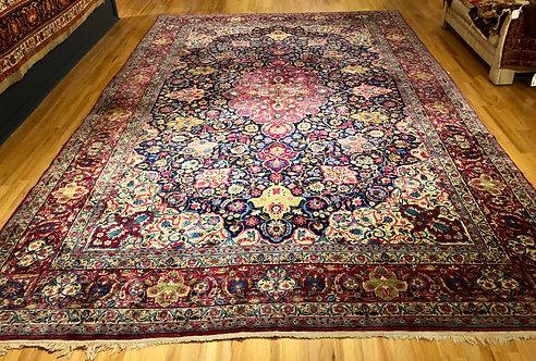 """10'10""""X17'3"""" Antique Persian Kerman"""
