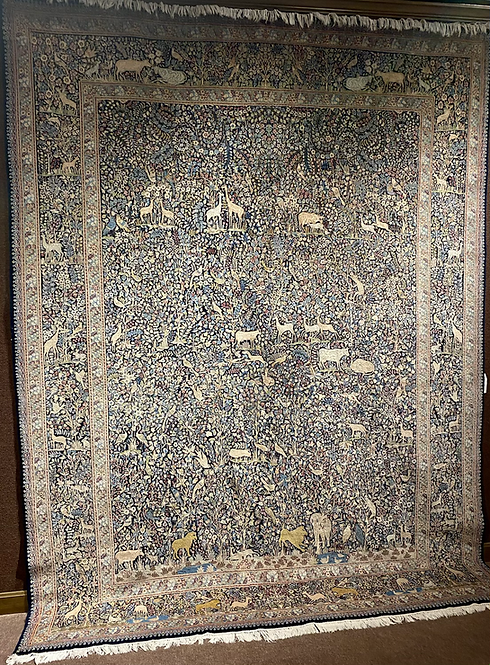 "9'8""X13' Semi-Antique Persian Kerman"