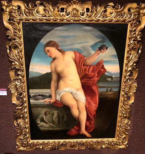"""""""Study of Sacred and Profane Love"""" Circle of Titian (Tiziano Vecellio)"""