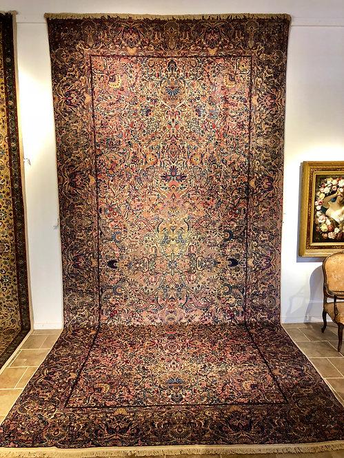 "10'X19'8"" Antique Persian Lavar Kerman"