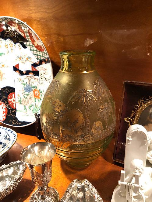 Antique Moser Elephant Cameo Glass