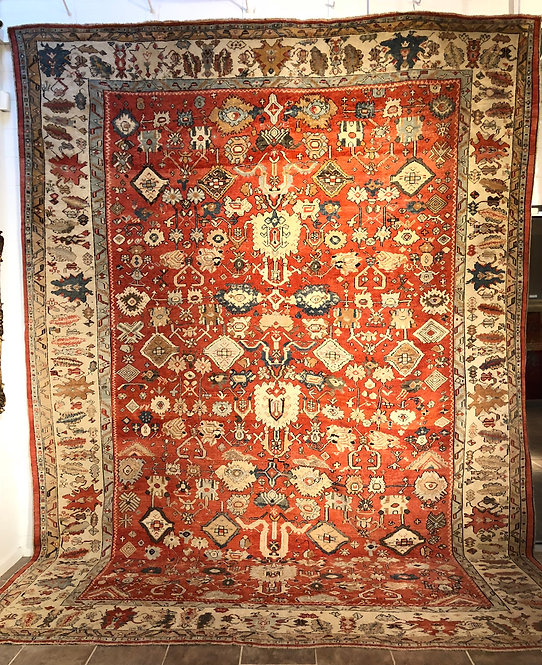 "12'4""X16'4"" Antique Oushak"