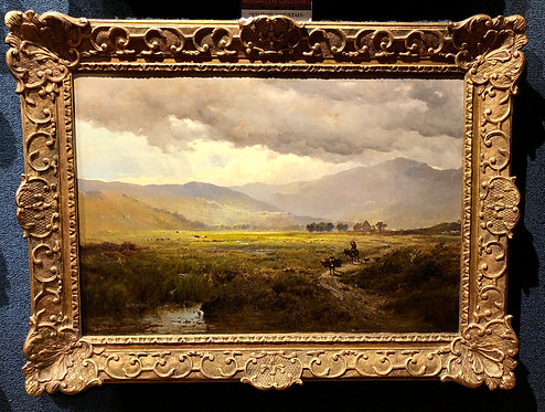 """Stormy Mountain Scene"" By: Alfred De Breanski"