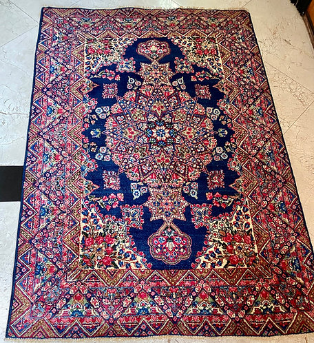 "4'1""X6'2"" Antique Persian Lavar Kerman"