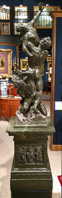 19th Century Rape of the Sabine Woman, carved Serpentine, Russian