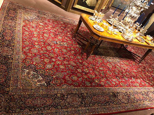 "12'11""X19'11"" Semi-Antique Silk and Wool Persian Kashan"