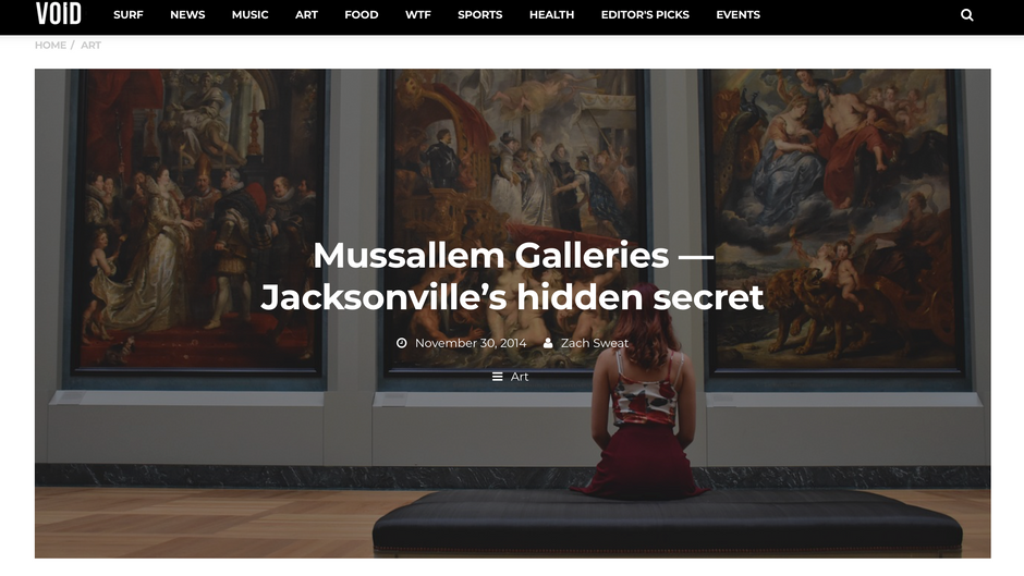 Mussallem Galleries — Jacksonville's hidden secret