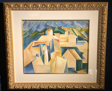 """Cubist House on Hill"" Attributed to Pablo Picasso"