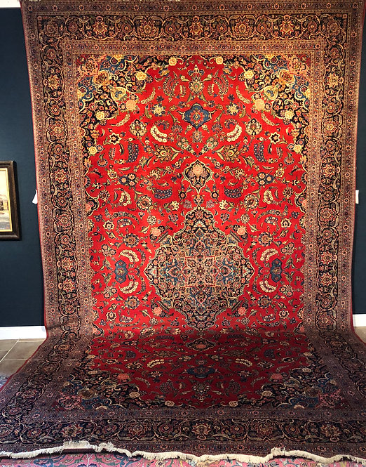 "10'9""X17'4"" Antique Persian Keshan"