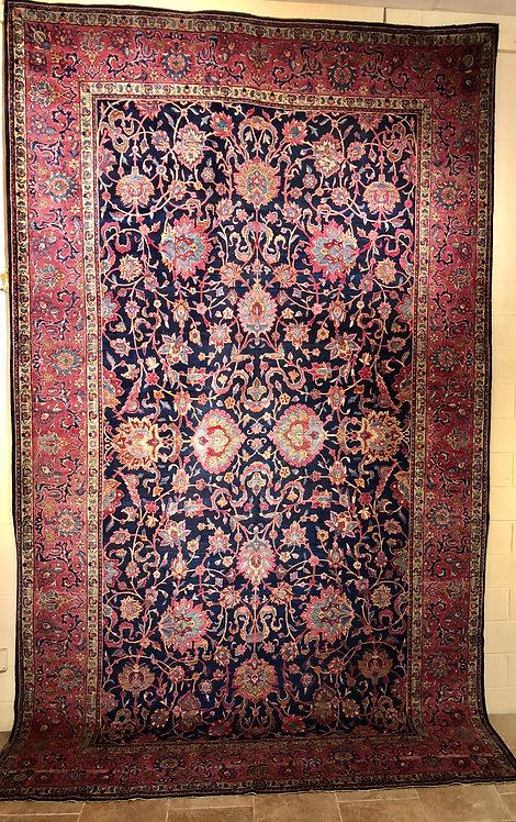 9'X15' Antique Blue Persian Kerman