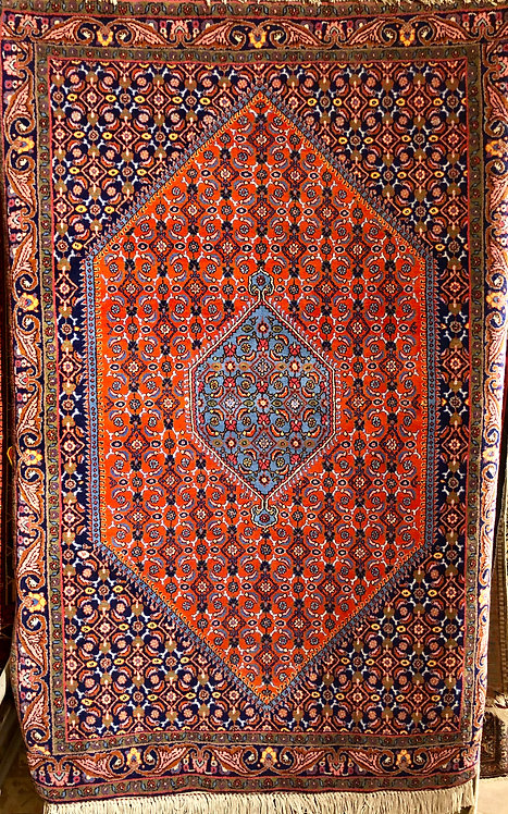 "3'9""X5'7"" Persian Bidjar Fereghan Rust"