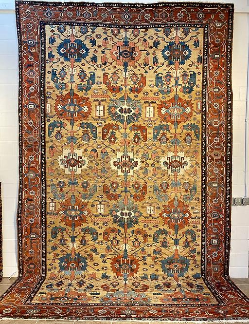 """10'2""""X15'11"""" Antique Persian Serapi"""