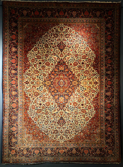 "8'10""X11'10"" Antique Dabir Kashan"