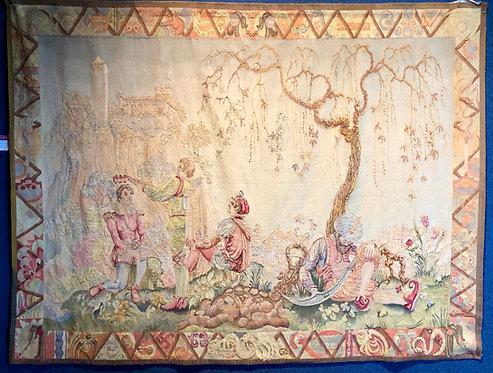 "6'2""x8'1"" A Very Fine American Vendure Tapestry By: Lorentz Kleiser"