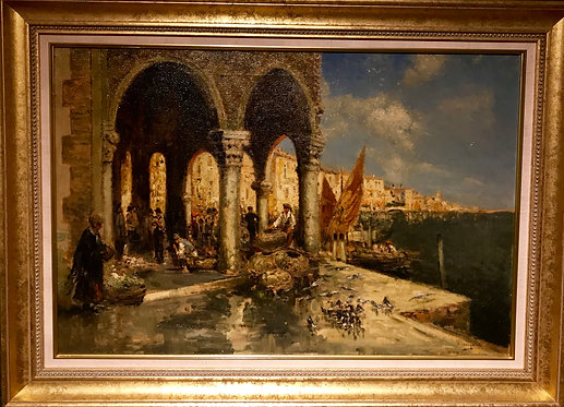 A Pair of Venice Scenes by Nicholas Briganti