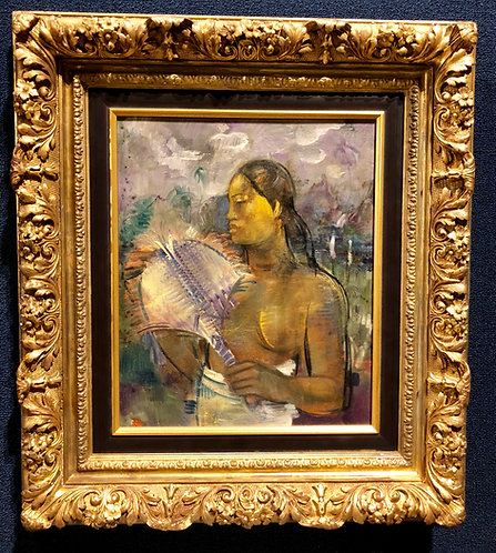 """Tahitian Woman"" By: Paul Gauguin (French 1848-1903)"