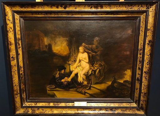 Rembrandt Copy of The Toilet of Bathsheba, By: Maxine Schweigart 1939