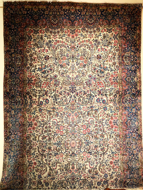 "9'8""X19'3"" Antique Persian Lavar Kerman"
