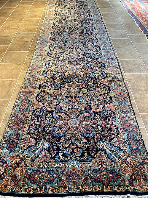 5' x 20' Antique Persian Lavar Kerman