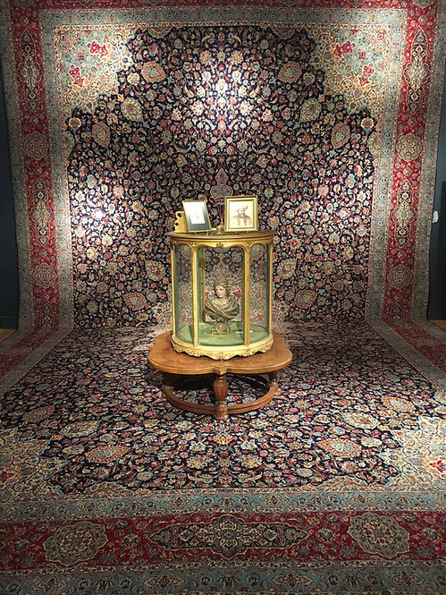 "16'4""X27' Semi-Antique Ardabil Design Kerman"