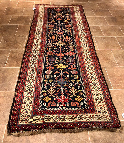 "3'9""X10'1"" RARE ANTIQUE CAUCASIAN RUG"