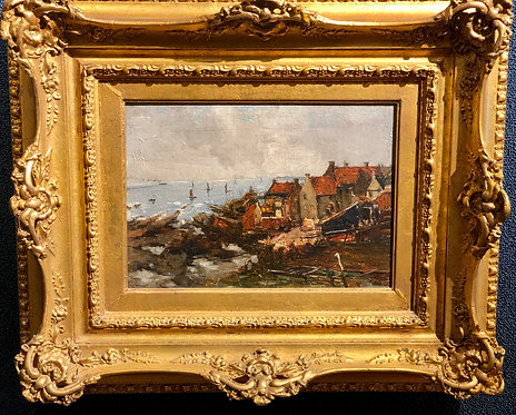 The Harbor at Brittany By: Albert Joseph