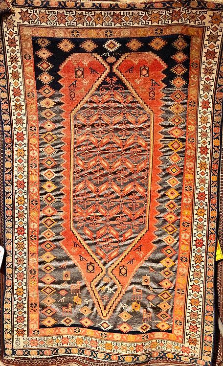 "3'7""X5'10"" Antique Persian Hamadan"