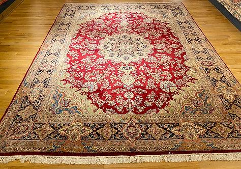 """9'10""""X13'5"""" Persian Red Kerman"""