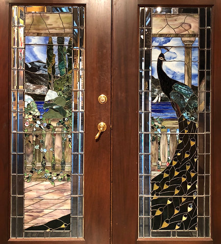 Pair of Tiffany Stained Glass Doors