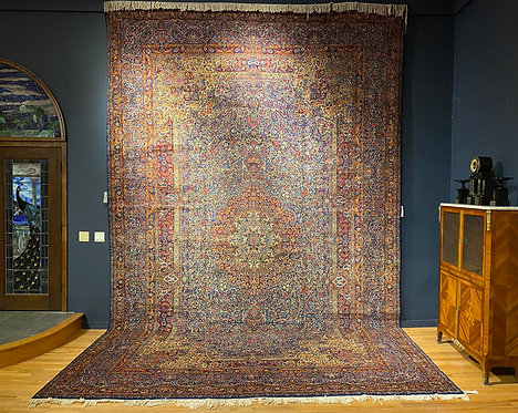"12' X 18'11"" Semi-Antique Persian Arjomand Kerman"