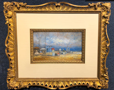 """A Nice Day at the Beach"" By: Eugene Boudin"