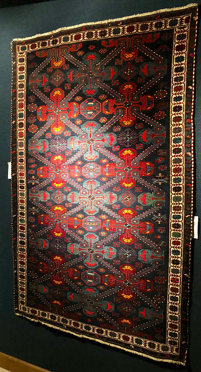 "4'11""X7'3"" Antique Blue Seychour Kuba"