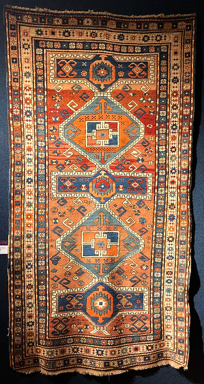 3.6x7 Semi-Antique Kazak Rug