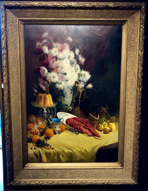 Very Large (Appx5.5'x7.5')Still Life By: Josse Goossens