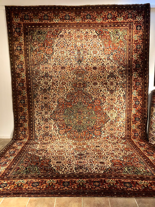 "13'6""X21'1"" Antique Persian Farahan Sarouk"