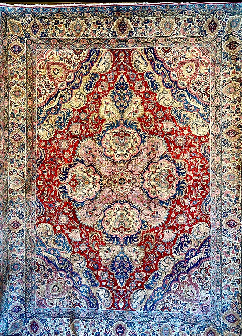"8'9""X11'9 Antique Persian Atiyeh Kerman"